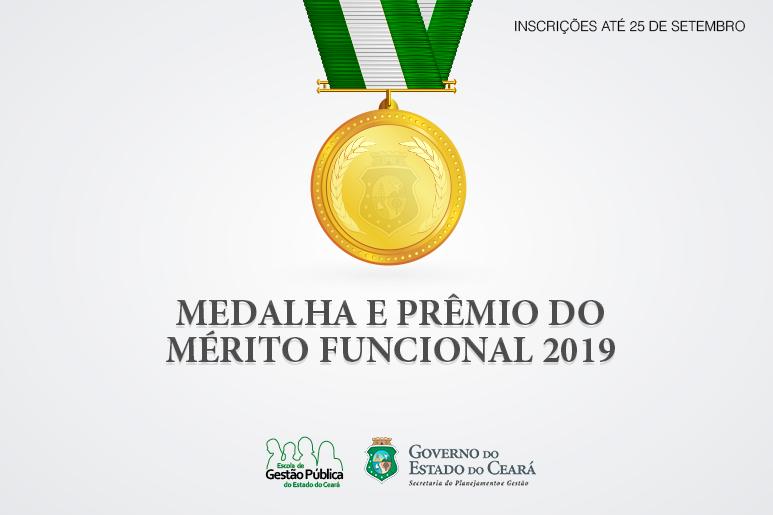 Abertas inscrições para Medalha e Prêmio do Mérito Funcional 2019