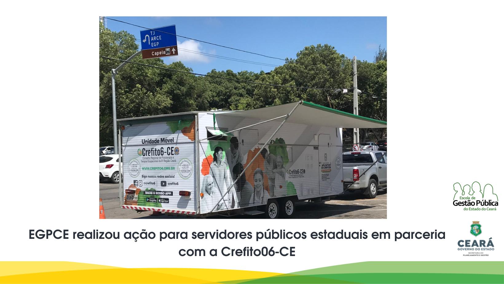 EGPCE realizou ação para servidores públicos estaduais em parceria com a Crefito06-CE